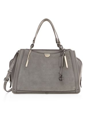 Dreamer Mixed Leather Top Handle Bag