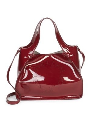 Faux Patent Leather Dual Crossbody Bag