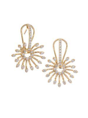 HUEB Luminus Diamond & 18K Yellow Gold Post Earrings