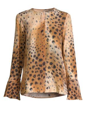Izzie Leopard-Print Blouse