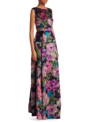 Fil Coupe Jacquard Gown