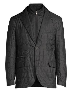 CORNELIANI Quilted ID Blazer Jacket