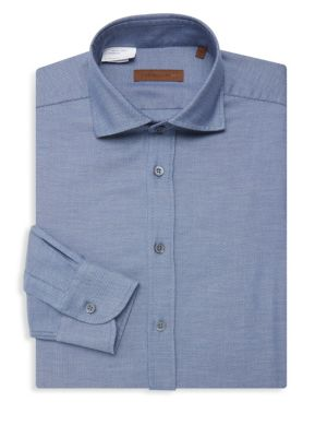 Piqué Cotton Classic Fit Dress Shirt