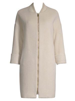 Virgin Wool Silk Trench Coat