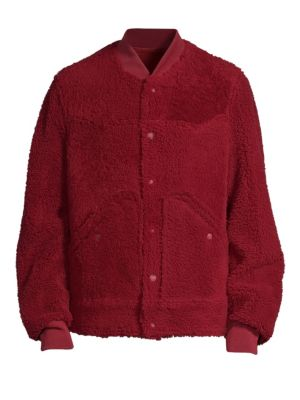 Reversible Shearling Fur Bomber Jacket