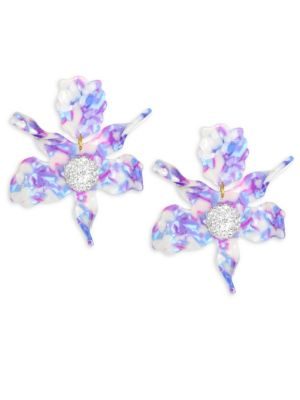 Mosaic Garden Crystal Lily Stud Earrings