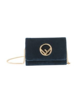 Small Velvet Chain Wallet