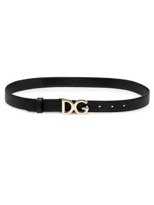 Polished Logo Leather Belt