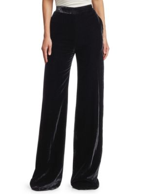 BRANDON MAXWELL Wide-Leg Velvet Pants