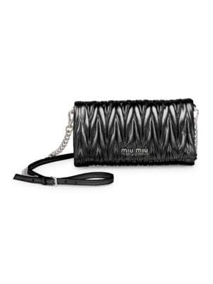 Matelasse Leather Shoulder Bag