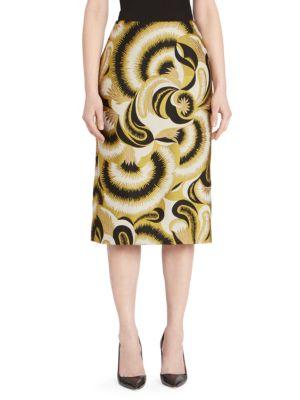 Brocade Pencil Skirt