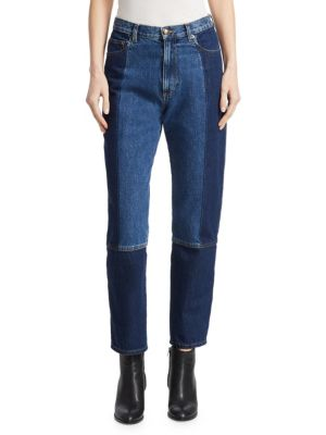 Patch Denim Boyfriend Jeans