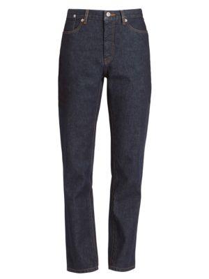 Hi-Rise Straight-Leg Jeans