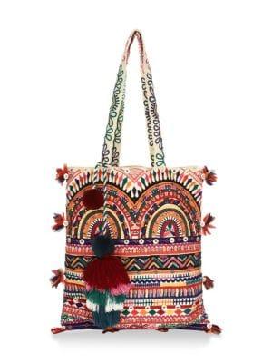 FIGUE Tova Embellished Tote Bag