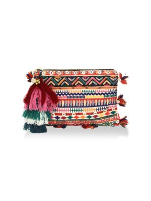 FIGUE Soma Embellished Pouch
