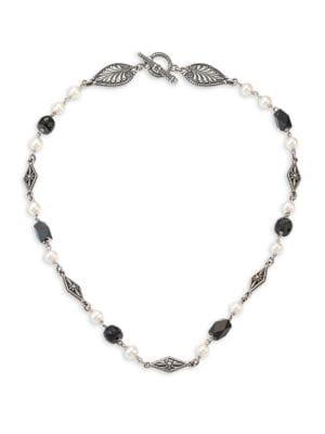 Iliada Moonstone, Pearl & Sterling Silver Necklace
