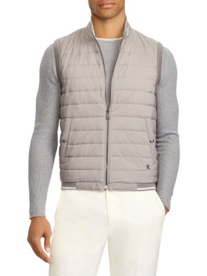 Quilted Reversible Hybrid Vest