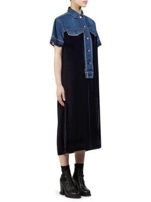 Denim & Velvet Dress