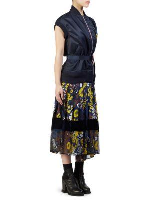 Floral Print Bomber Dress