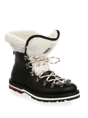 Shearling-Lined Rubber Ankle Boots