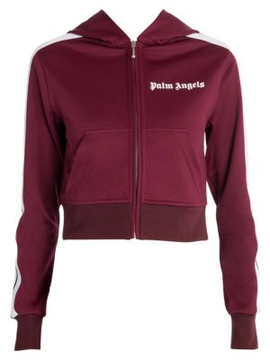 Hooded Cropped Track Jacket