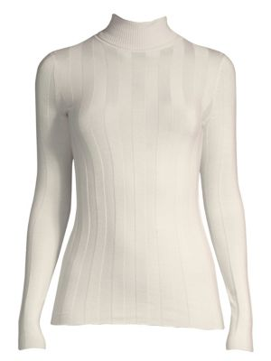 Wide-Rib Turtleneck Sweater