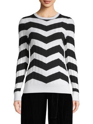 Chevron Wide-Rib Sweater