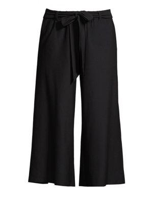 Wide Crop Self-Tie Pants