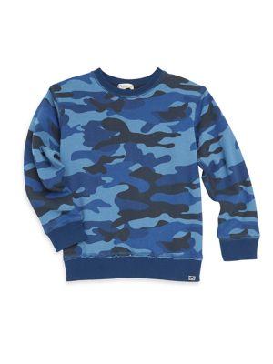 Little Boy's & Boy's Highland Camo-Print Sweatshirt