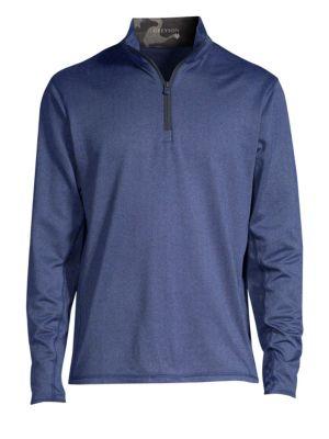 Tate Herringbone-Printed Mockneck Sweater