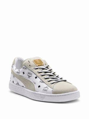 on sale 5e6ea 58c20 Puma X Mcm Suede Classic Sneakers, White
