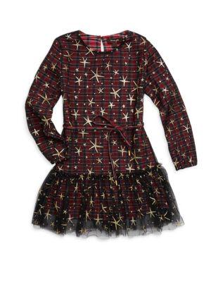Little Girl's & Girl's Plaid Dress