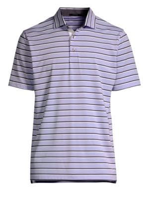 GREYSON Missouria Striped Polo Tee