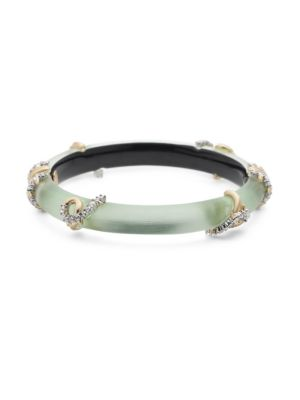 10K Gold-Plated & Crystal-Encrusted Open Knot Hinge Bracelet