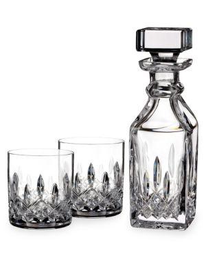 Linsmore Connoisseur Crystal Decanter & Tumblers Set