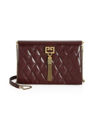 Gem Quilted Medium Frame Clutch