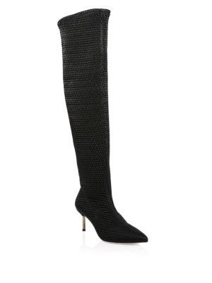 Merna Woven Knee-High Boots