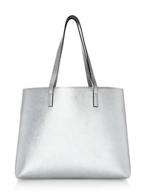 OAD Metallic Leather Caryall Tote Bag
