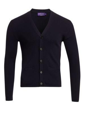 Rib-Knit Merino Wool Cardigan
