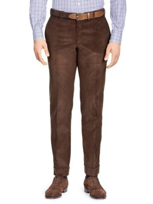 Slim-Fit Corduroy Separate Trousers