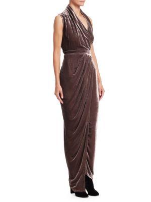 Limo Velvet Wrap Dress