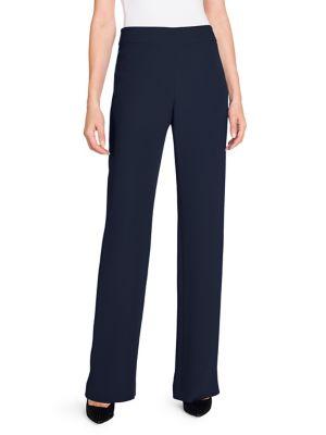 Silk High-Waisted Long Pants