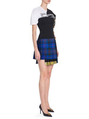 Strapless Tartan Mini Dress