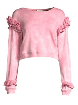 Bleached Ruffle Sweatshirt
