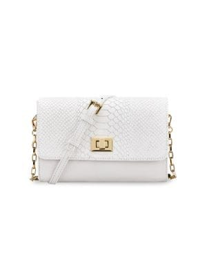 Catherine Python-Embossed Leather Crossbody Bag