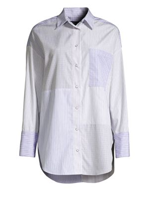 Patchwork Stripe Cotton Shirt