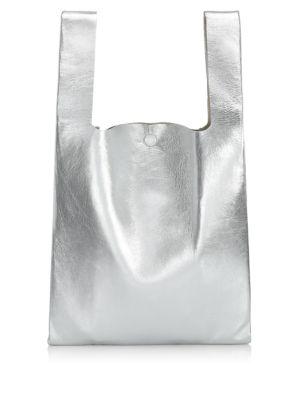 Metallic Leather Shopper