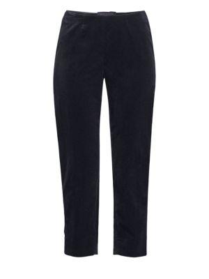 PIAZZA SEMPIONE Audrey Velvet Cropped Pants