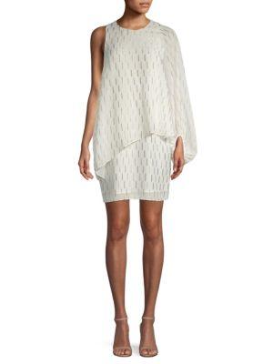 Asymmetrical Cape Popover Dress