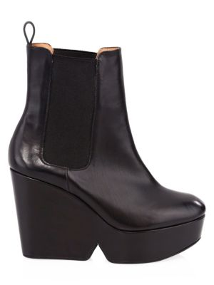 Beatrice Leather Wedge Ankle Boots